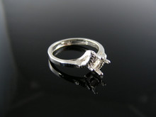 5680 RING SETTING STERLING SILVER, SIZE 4.25, 5X3 MM OVAL STONE