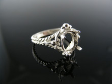 5656 RING SETTING STERLING SILVER, SIZE 7.25, 9X7 MM OVAL STONE
