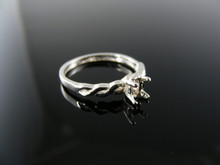 1243 RING SETTNG STERLING SILVER, SIZE 6.25, 5X3 MM OVAL  STONE