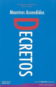 DECRETOS - MAESTROS ASCENDIDOS (LIBRO)