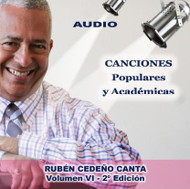 CD CANCIONES POPULARES Y ACADEMICAS VOL VI - RUBÉN CEDEÑO
