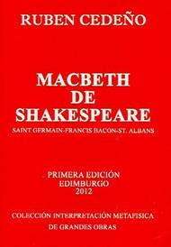 MACBETH - RUBEN CEDEÑO (LIBRO) EDITORIAL SEÑORA IBERICA