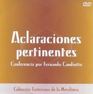 DVD ACLARACIONES PERTINENTES - FERNANDO CANDIOTTO (CONFERENCIA)
