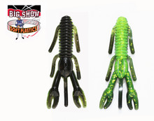 "3.25"" PUNCH BUG - Black/ Chartreuse / silver flk - (8 Pack)"