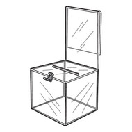 Ballot / Donation Box With Sign Holder