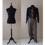 Black Male French Mannequin Dress Form
