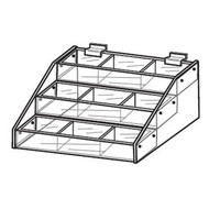 Tiered Slatwall Trays