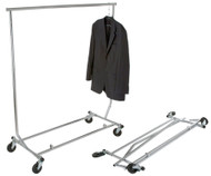 Collapsible Clothing Rolling Rack