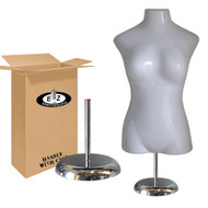Deluxe Large Bust Female Mannequin with Base