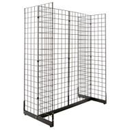 2' x 6' Gridwall Panel with Gondola Base