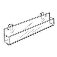 Acrylic Gridwall J-Rack Shelves - Closed End
