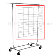 Shelf/Display Screen For Salesman Rack Chrome Great Accessory for Rolling Racks