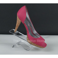 Acrylic Curled Heel Rest Shoe Display