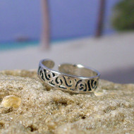 Sterling Silver Cut Filligree Toe Ring