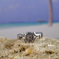 Sterling Silver Sunflower Toe Ring