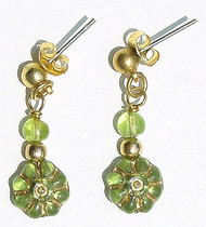 Peridot Flowers Earrings