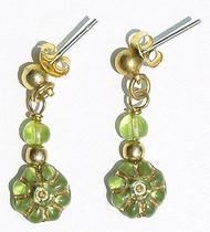 Peridot Flowers Earrings