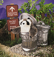 Raccoon in Garbage Can - Folkmanis® Puppet *SALE*