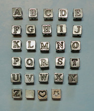 Alphabet Beads with Antique Pewter Finish