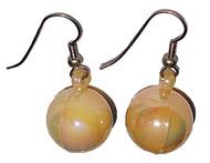 Iridescent Christmas Ball Ornament Earrings