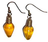 Yellow Christmas Light Earrings