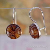 Brown Millefiori Earrings
