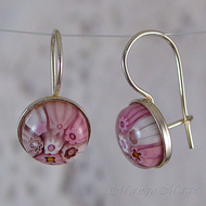 Pink Millefiori Earrings