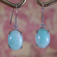 Blue Aragonite Sterling Silver Dangle Earrings