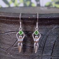 Gaia Stone™ Sterling Silver Goddess Earrings