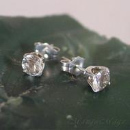 Prasiolite (Green Amethyst) Sterling Silver Stud Earrings