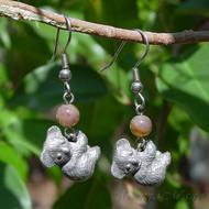 Fancy Jasper Koala Earrings