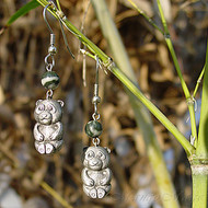 Zebra Dolomite Panda Earrings