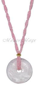 Rose Quartz Beaded Stone Necklace