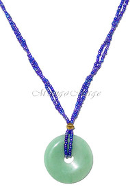 Bright Green Beaded Stone Necklace