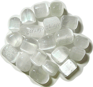 Selenite, tumbled