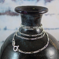 "20"" Figaro 050 Sterling Silver Chain"