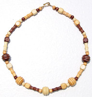 "Triple Wood 17"" Necklace"