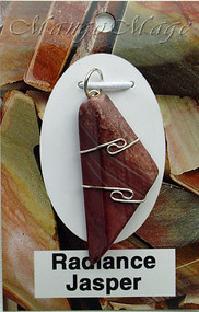 Radiance Jasper Sterling Silver Wire-Wrapped Stone Pendant