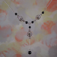 Marcasite & Onyx Necklace