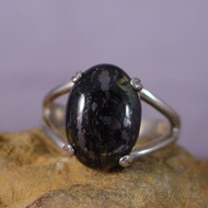 Nuummite Sterling Silver Ring - Size 8