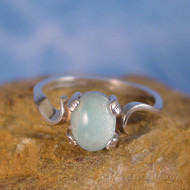 Blue Aragonite Sterling Silver Ring - Size 6