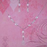 Rose Quartz & Fresh Water Pearl Sterling Silver Jewelry Set