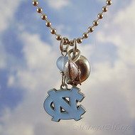 University of North Carolina Tarheels Charm Necklace - Officially licensed