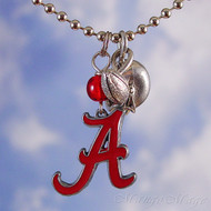 University of Alabama Crimson Tide Charm Necklace - Officially licensed