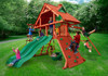 Outdoor view of the Sun Palace Extreme Swing Set from Plan-It-Play.