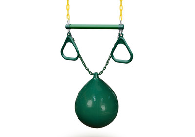 Buoy ball with trapeze bar in green.