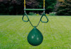 Image of green buoy ball on a grass background.