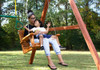 Swinging with the loved one on the Babysitter Swing  from Plan-It-Play
