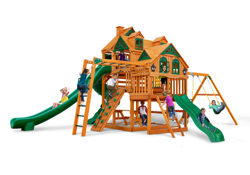 Front view of the Empire Swing Set from Plan-It-Play.