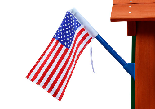 Studio view of American Flag from Plan-It-Play.